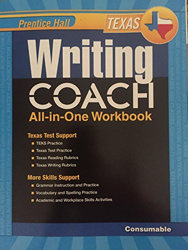 9780133212549: Prentice Hall Writing Coach All-in-One Workbook, Texas Grade 7
