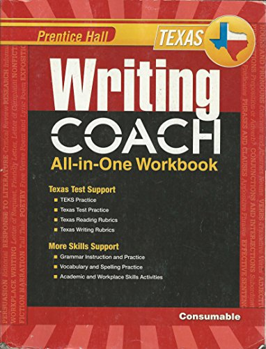 9780133212556: Prentice Hall Texas Writing Coach All-In-One Workbook: Grade 8