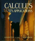 Calculus and Its Applications: Larry Joel Goldstein,