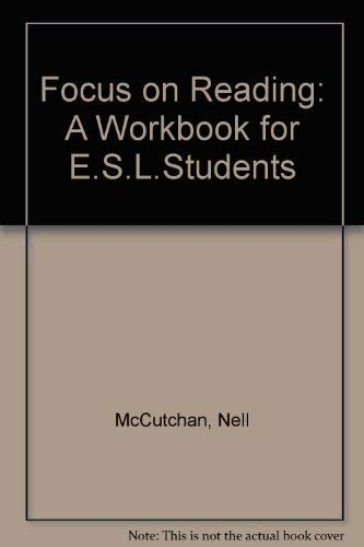 9780133227765: Focus on Reading: A Workbook for Esl Students