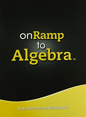 9780133228625: ONRAMP TO ALGEBRA 2013 EXTRA PRACTICE WORKBOOK GRADE 7/9