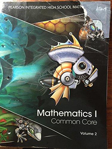 9780133234626: Pearson Mathematics I Common Core Volume 2 Student Edition Workbook 2014