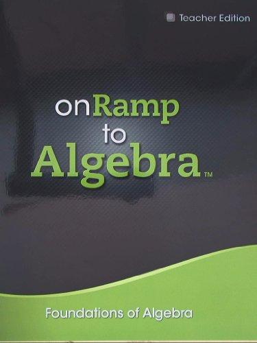 9780133235487: On Ramp to Algebra, Foundations of Algebra, Teacher Edition