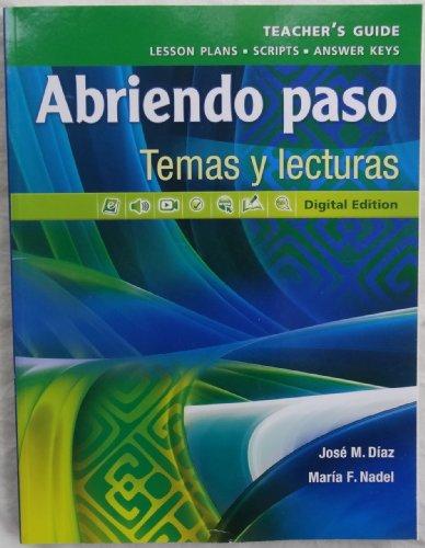 Pearson - Abriendo paso: Temas y lecturas: Jose M. Diaz,