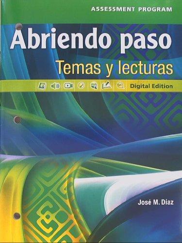 9780133238204: Abriendo paso, Temas y lecturas, Assessment Program, Digital Edition