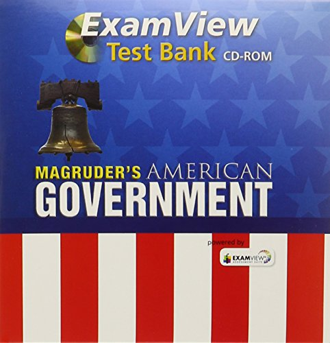 9780133240863: MAGRUDER'S AMERICAN GOVERNMENT 2013 ENGLISH EXAMVIEW COMPUTER TEST BANK GRADE 12