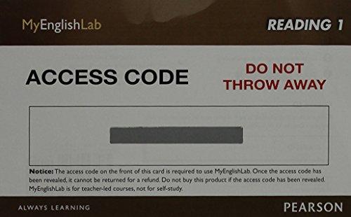 9780133248920: MyEnglishLab Reading 1 (Student Access Code)