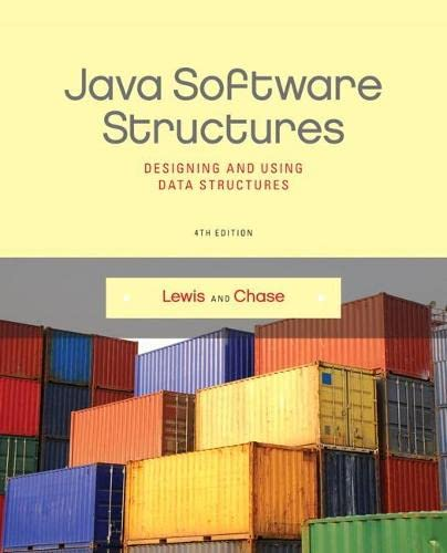 9780133250121: Java Software Structures: Designing and Using Data Structures (4th Edition)