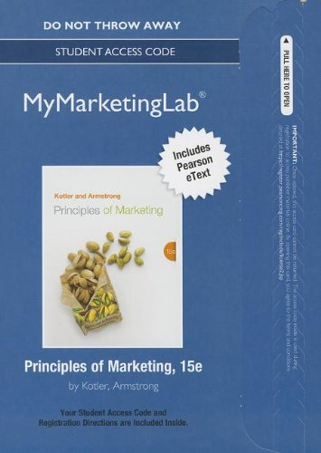 9780133250206: NEW MyMarketingLab with Pearson eText -- Standalone Access Card -- for Principles of Marketing