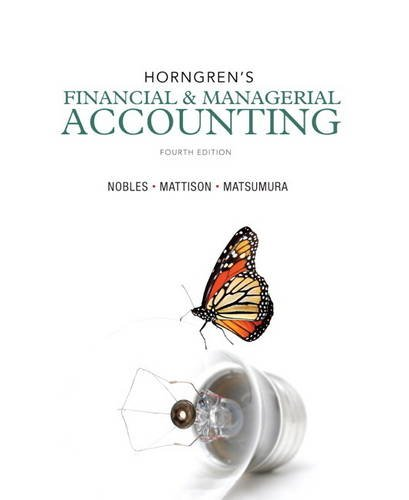 9780133251241: Horngren's Financial & Managerial Accounting (4th Edition)