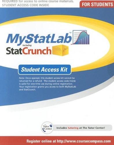 9780133251395: MyStatLab -- Standalone Access Card