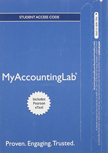 9780133251494: NEW MyLab Accounting with Pearson eText -- Access Card -- for Introduction to Financial Accounting