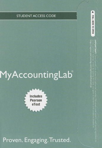 NEW MyAccountingLab with Pearson eText -- Standalone Access Card -- for Horngren's Financial & Managerial Accounting (MyAccountingLab (Access Codes)) (0133252965) by Brenda L. Mattison; Ella Mae Matsumura; TBD TBD; Tracie L. Miller-Nobles
