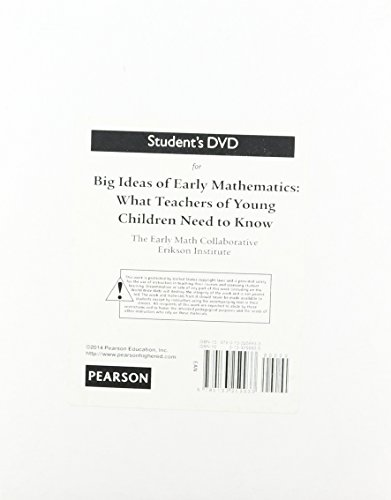 9780133259933: Student's DVD for Big Ideas of Early Mathematics: What Teachers of Young Children Need to Know