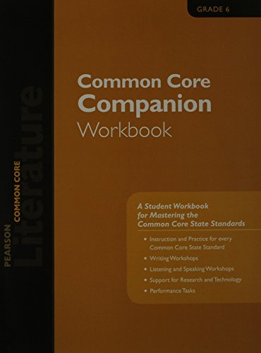 9780133271065: PEARSON LITERATURE 2015 COMMON CORE COMPANION WORKBOOK GRADE 06
