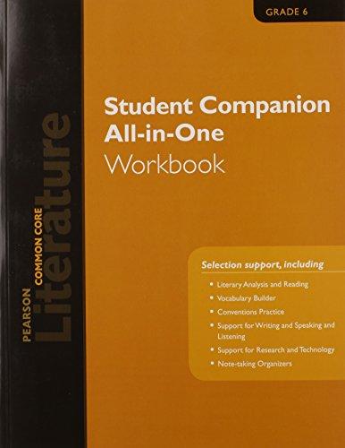 9780133271140: PEARSON LITERATURE 2015 COMMON CORE STUDENT COMPANION ALL-IN-ONE WORKBOOK GRADE 06
