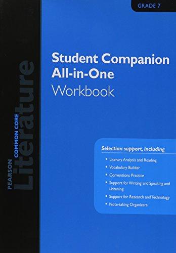 9780133271164: PEARSON LITERATURE 2015 COMMON CORE STUDENT COMPANION ALL-IN-ONE WORKBOOK GRADE 07