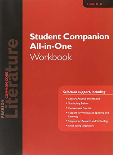 9780133271171: PEARSON LITERATURE 2015 COMMON CORE STUDENT COMPANION ALL-IN-ONE WORKBOOK GRADE 08