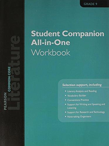 9780133271188: Pearson Literature 2015 Common Core Student Companion All-In-One Workbook Grade 09