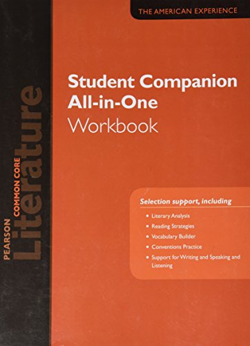 9780133271201: PEARSON LITERATURE 2015 COMMON CORE STUDENT COMPANION ALL-IN-ONE WORKBOOK GRADE 11