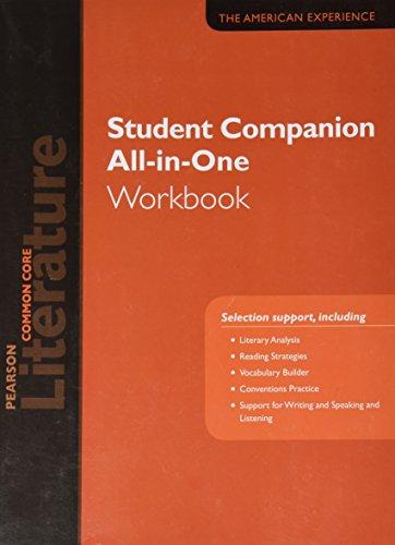 9780133271201: PEARSON LITERATURE 2015 COMMON CORE STUDENT COMPANION ALL-IN-ONE WORKBOOK GRADE 11
