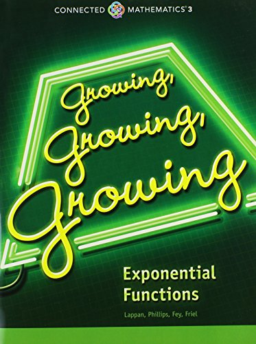 9780133274509: GROWING, GROWING, GROWING: EXPONENTIAL FUNCTIONS STUDENT EDITION