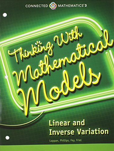 9780133274523: Connected Mathematics 3 Student Edition Grade 8: Thinking with Mathematical Models: Linear and Inverse Variation Copyright 2014