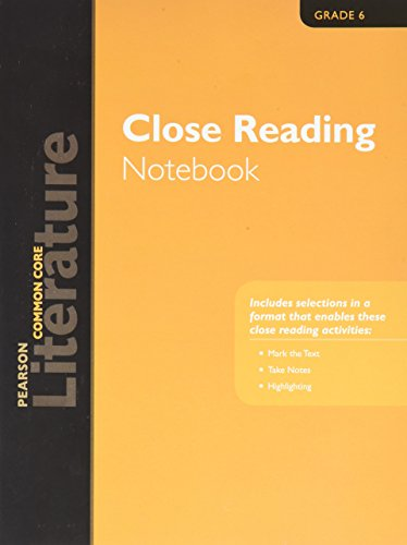 9780133275650: PEARSON LITERATURE 2015 COMMON CORE CLOSE READING NOTEBOOK GRADE 06