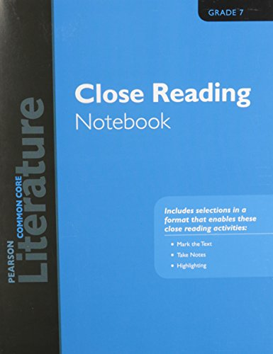 9780133275667: PEARSON LITERATURE 2015 COMMON CORE CLOSE READING NOTEBOOK GRADE 07