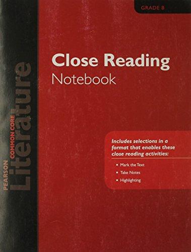 9780133275674: PEARSON LITERATURE 2015 COMMON CORE CLOSE READING NOTEBOOK GRADE 08