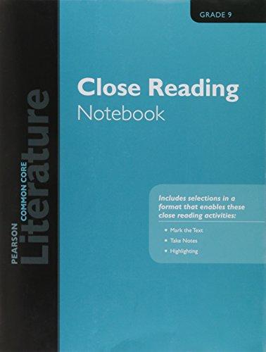 9780133275681: PEARSON LITERATURE 2015 COMMON CORE CLOSE READING NOTEBOOK GRADE 09