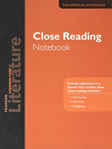 9780133275704: PEARSON LITERATURE 2015 COMMON CORE CLOSE READING NOTEBOOK GRADE 11