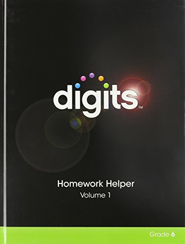 9780133276299: Digits Homework Helper Volume 1 Grade 6