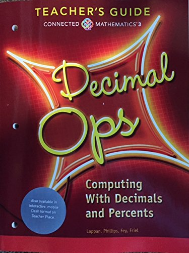 9780133276503: Connected Mathematics 3 Decimal Ops Teacher's Guide Computing With Decimals and Percents