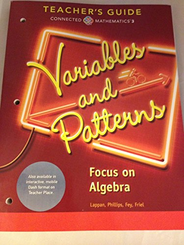 9780133276534: VARIABLES AND PATTERNS FOCUS ON ALGEBRA CONNECTED MATHEMATICS 3 TEACHER'S GUIDE