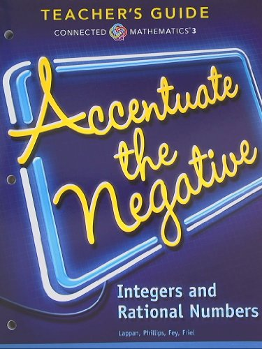 9780133276558: Connected Mathematics 3, Teacher's Guide, Accentuate the Negative