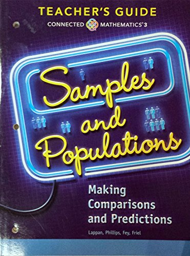 9780133276619: Samples and Populations - Making Comparisons and Predictions, Connected Mathematics 3, Teacher's Guide