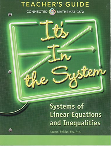 9780133276688: It's In the System; Systems of Linear Equations and Inequalities, Teacher's Guide