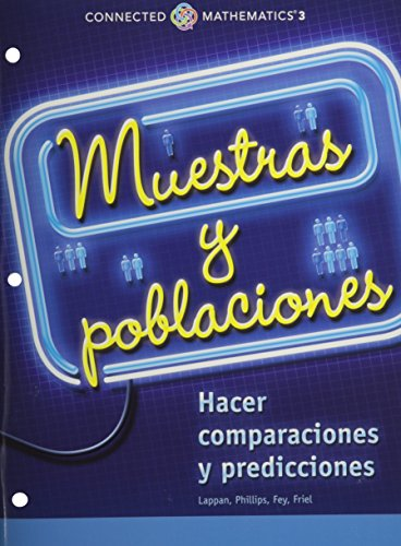 9780133278033: CONNECTED MATHEMATICS 3 SPANISH STUDENT EDITION GRADE 7: SAMPLES AND POPULATIONS:DATA COPYRIGHT 2014