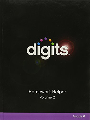 9780133283006: DIGITS HOMEWORK HELPER VOLUME 1 & VOLUME 2 PACKAGE GRADE 8