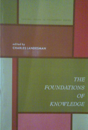 9780133295405: The Foundations Of Knowledge