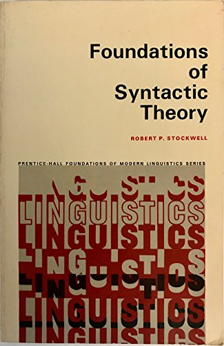 9780133299793: Foundations of Syntactic Theory (Prentice-Hall International Series in Civil Engineering and)