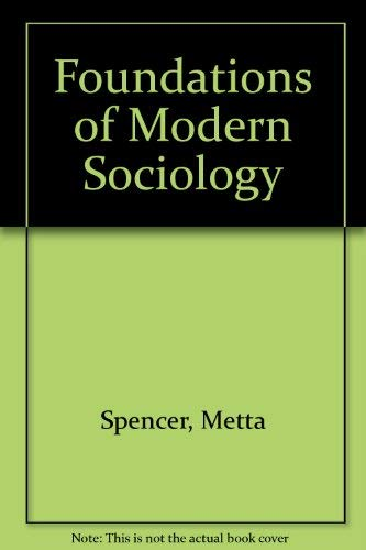 9780133302905: Foundations of Modern Sociology (Prentice-Hall foundations of modern sociology series)
