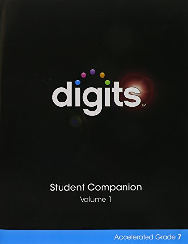 9780133306408: DIGITS ENHANCED STUDENT COMPANION ACCELERATED GRADE 7 VOLUME 1