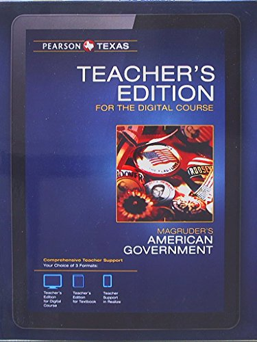 Pearson Texas, Magruders American Government, Teachers Edition