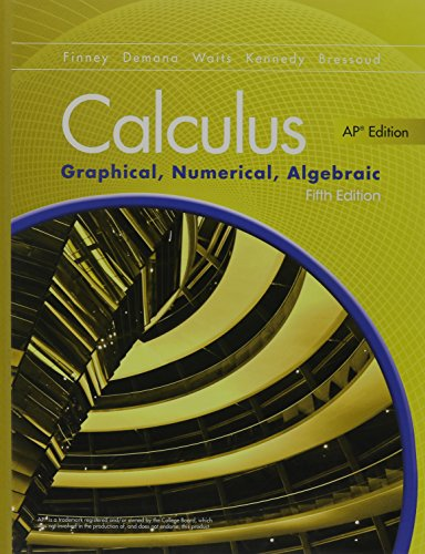 9780133311617: ADVANCED PLACEMENT CALCULUS 2016 GRAPHICAL NUMERICAL ALGEBRAIC FIFTH EDITION STUDENT EDITION