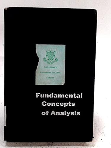 Fundamental Concepts of Analysis: Alton H. Smith