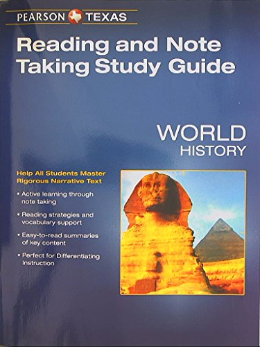 9780133321708: Pearson Texas, World History, Reading and Note Taking Study Guide, 9780133321708, 0133321703
