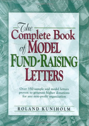 9780133342024: The Complete Book of Model Fund-raising Letters