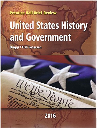 9780133342475: 2016 Prentice Hall Brief Review United States History and Government